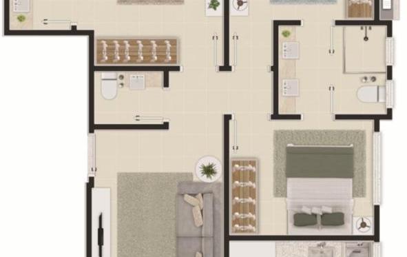 Apartamento com 02 suítes e 02 vagas de garagem no Brava Arts em Itajaí SC