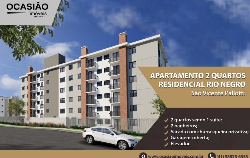 Apartamento residencial Rio Negro no Cajuru - São Vicente Palloti
