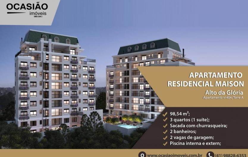 Apartamento Residencial Maison -    Alto da Glória - Curitiba/PR