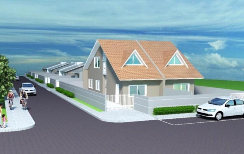 Terreno com 6 Casas e 2 sobrados germinados pronto para morar, de 02 e 03 quartos a venda na Vila Rivabem em Campo Largo
